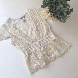 Cream Lace Top ✨